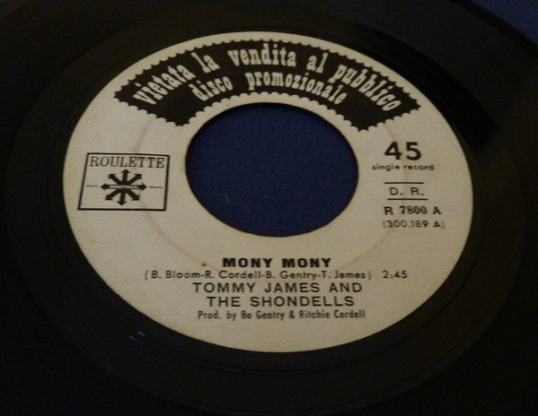 "Tommy James & The Shondells - Mony Mony / One Two Three And I Fell (7"", Single, Promo) - USED"