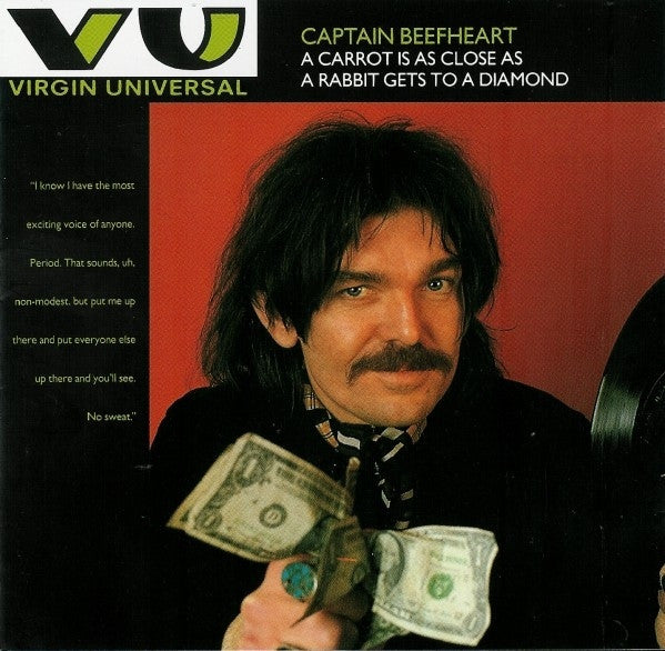Captain Beefheart - A Carrot Is As Close As A Rabbit Gets To A Diamond (CD, Comp, RP) - USED