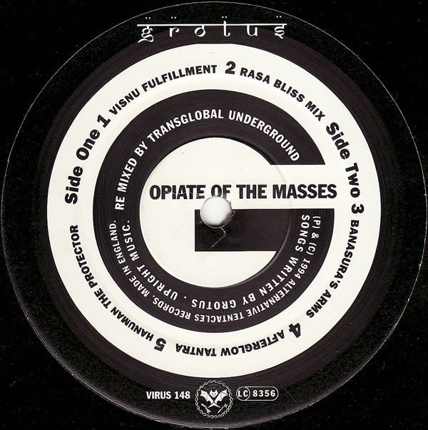 "Grotus - The ""Opiate Of The Masses"" EP. (12"", EP) - USED"