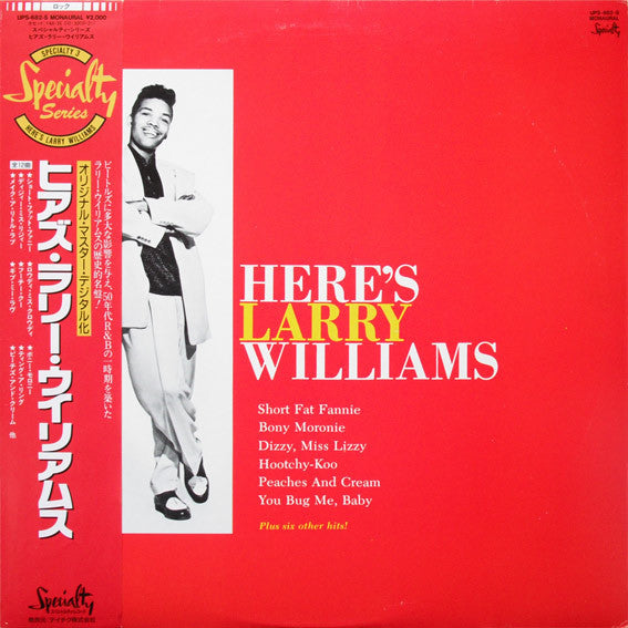 Larry Williams (3) - Here's Larry Williams (LP, Album, Mono, RE) - USED