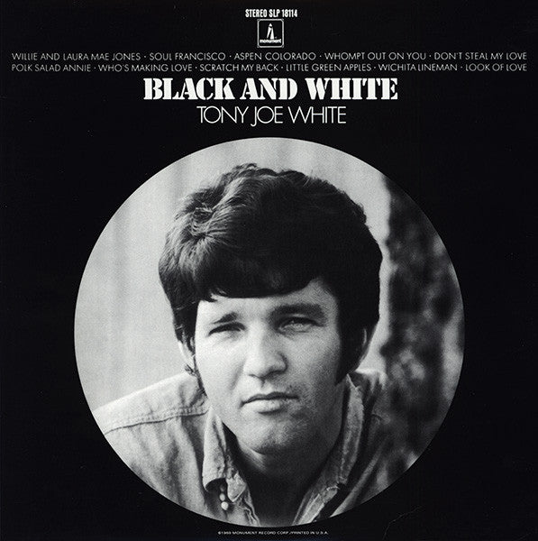 Tony Joe White - Black And White (LP, Album, RE, Rai) - NEW