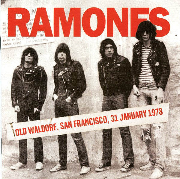 Ramones - Old Waldorf, San Francisco, 31 January 1978 (CD, Album, Unofficial) - NEW