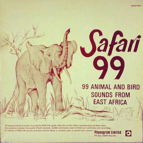 No Artist - Safari 99 - 99 Animals And Bird Sounds From East Africa (LP, Album) - USED