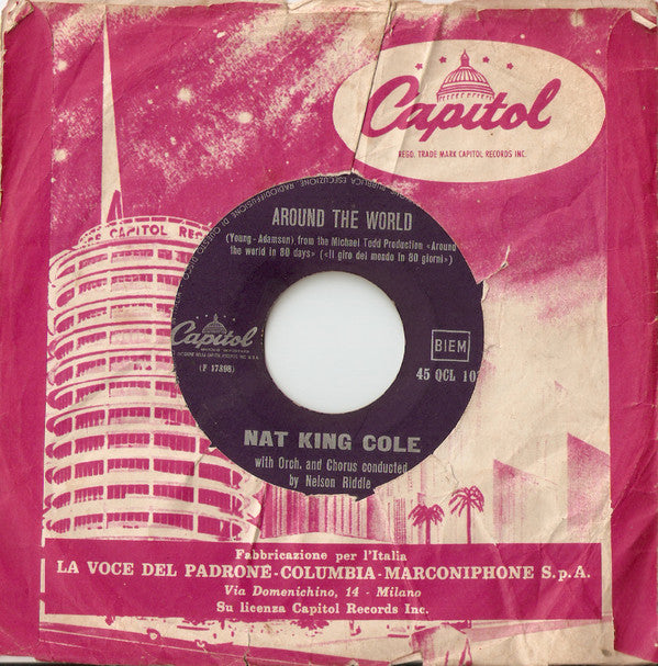 "Nat King Cole - Around The World / Fascination (7"", Single) - USED"
