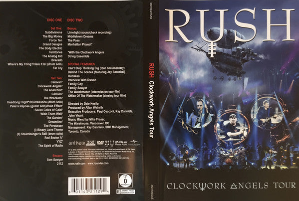 Rush - Clockwork Angels Tour (2xDVD) - USED