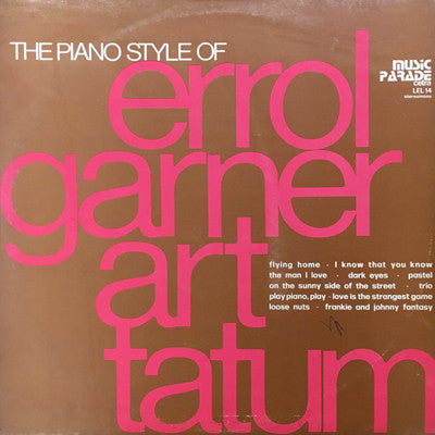Erroll Garner, Art Tatum - The Piano Style Of (LP) - USED