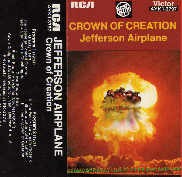 Jefferson Airplane - Crown Of Creation (Cass, Album, RE) - NEW