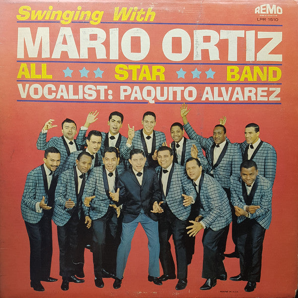 Mario Ortiz All Star Band Vocalist: Paquito Alvarez - Swinging With Mario Ortiz All Star Band (LP, Album) - USED
