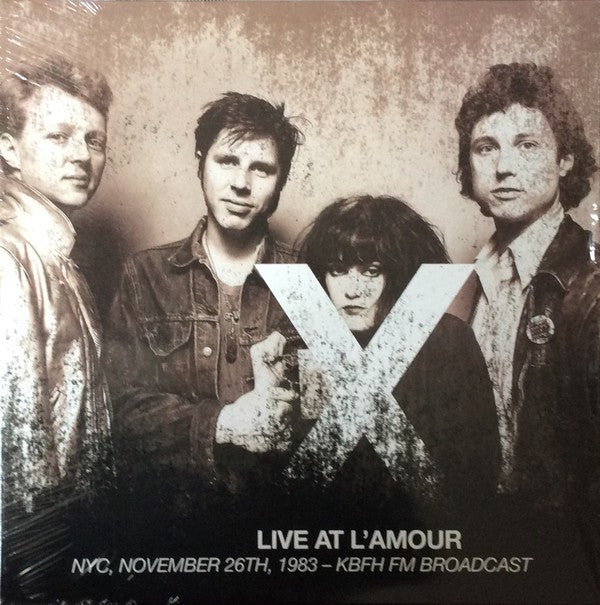 X (5) - Live At L'Amour - NYC, November 26th, 1983 - KBFH FM Broadcast (2xLP, Album, Ltd, Unofficial) - NEW