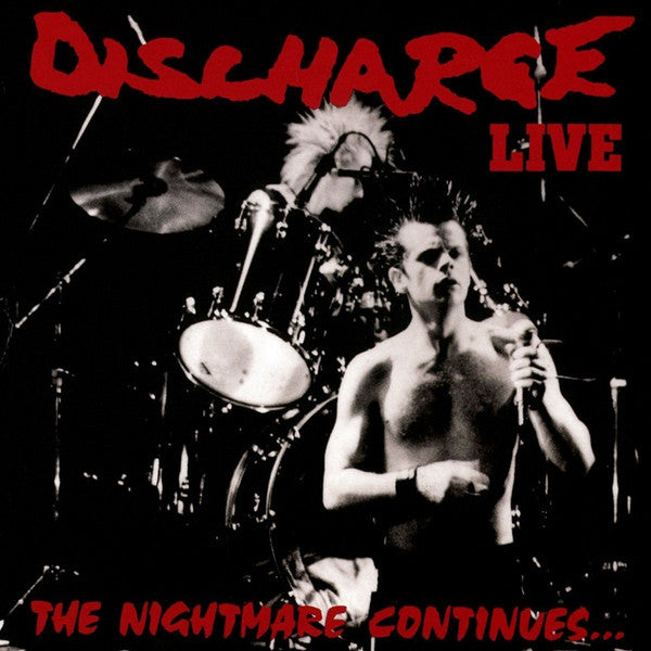 Discharge - The Nightmare Continues... Live (LP, Album, Ltd, RE, Cle) - NEW