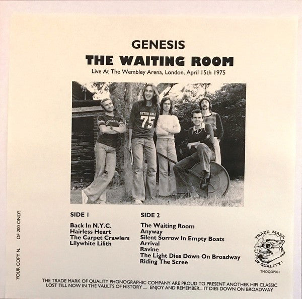 Genesis - The Waiting Room (LP, Num, Unofficial) - NEW