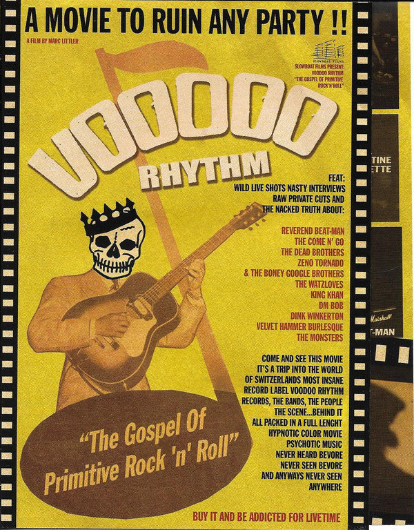 Various - Voodoo Rhythm, The Gospel Of Primitive Rock'N'Roll (DVD-V) - NEW