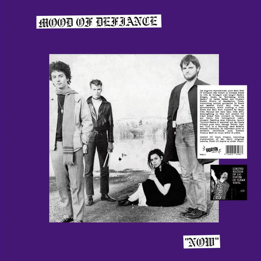 MOOD OF DEFIANCE - NOW (LP, Reissue, CLEAR VINYL, LIMITED 150) *pre order* ships April 10th