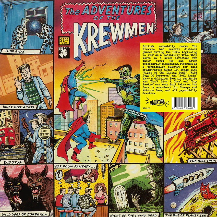 The Krewmen ‎– The Adventures Of The Krewmen (LP, reissue, + POSTER, BLACK VINYL) - NEW