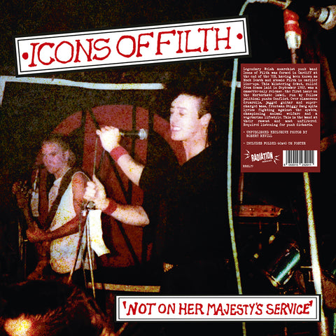 ICONS OF FILTH - Not On Her Majesty's Service (LP, reissue, + POSTER, BLACK VINYL) - NEW