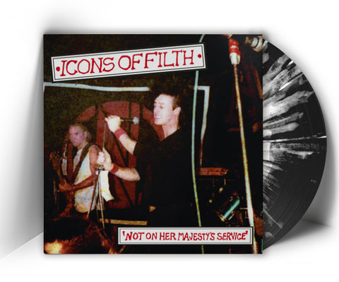 ICONS OF FILTH - Not On Her Majesty's Service (LP, reissue, + POSTER, SPLATTER VINYL LIMITED 100!) - NEW