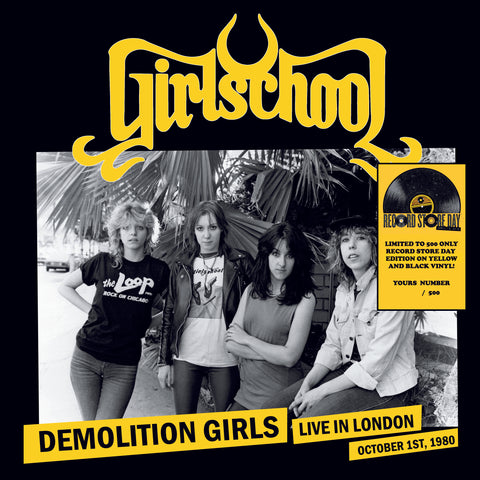 Girlschool - Demolition Girls, Live In London, October 1st, 1980 (LP, RSD 2019, Ltd, Num, yel) - NEW