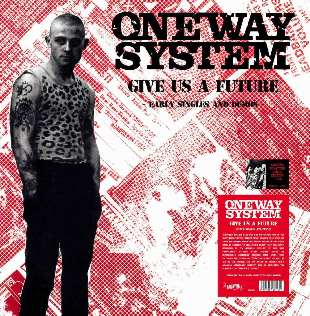 ONE WAY SYSTEM - Give US A Future (LP, splatter vinyl, NUMBERED + poster) - NEW