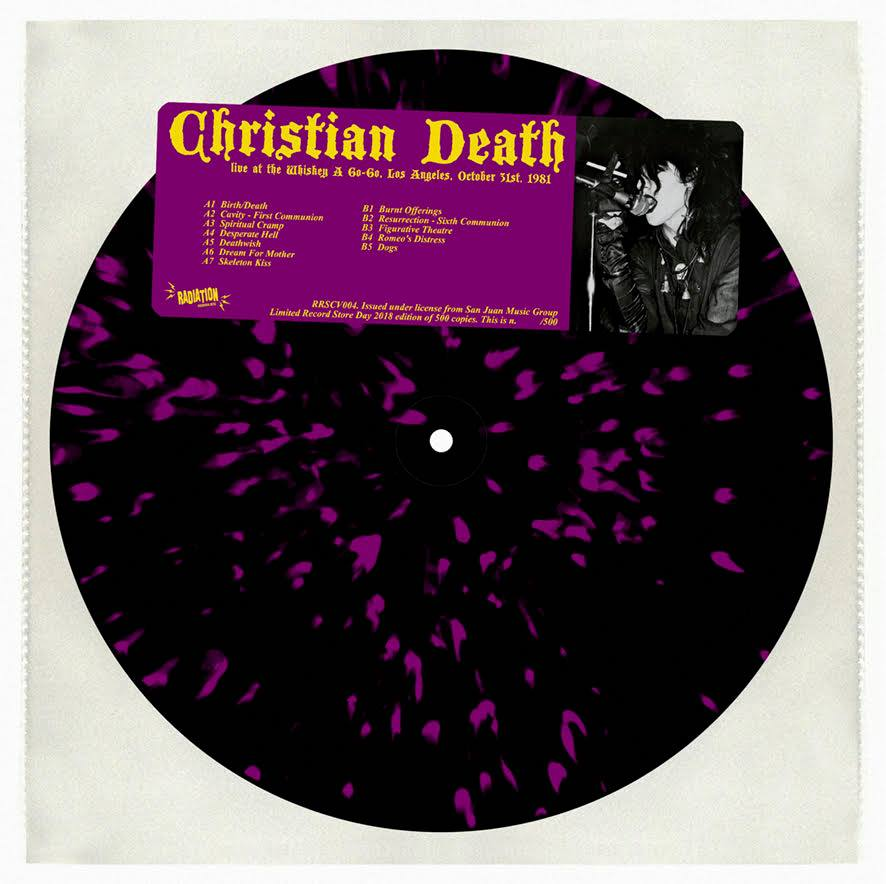 CHRISTIAN DEATH - Live At The Whisky a Go Go, LA, October 31st, 1981 (LP, splatter, lim 500, numbered)