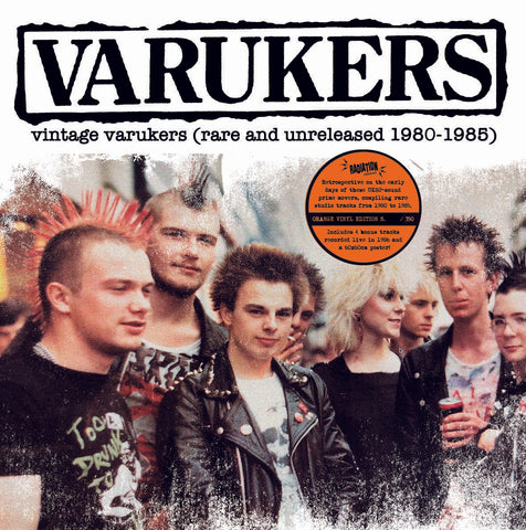 Varukers - Vintage Varukers (Rare and Unreleased 1980-1985) (LP, Album, RE, Orange)