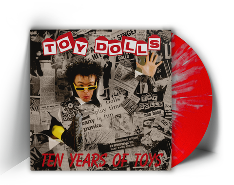 TOY DOLLS - TEN YEARS OF TOYS (LP, Album, RE, SPLATTER VINYL 150 ONLY) - NEW