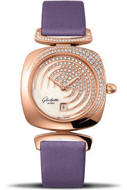Glashutte Original,Glashutte Original - Ladies Collection - Pavonina Red Gold - White - Watch Brands Direct