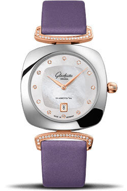 Glashutte Original,Glashutte Original - Ladies Collection - Pavonina Stainless Steel and Red Gold - Mother of Pearl - Watch Brands Direct