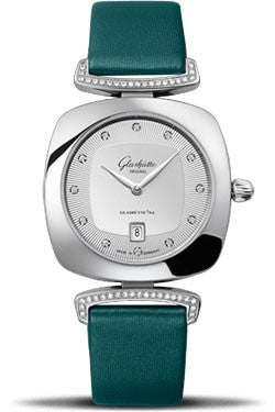 Glashutte Original,Glashutte Original - Ladies Collection - Pavonina Steel - Silver - Watch Brands Direct