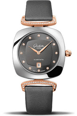 Glashutte Original,Glashutte Original - Ladies Collection - Pavonina Stainless Steel and Red Gold - Grey - Watch Brands Direct