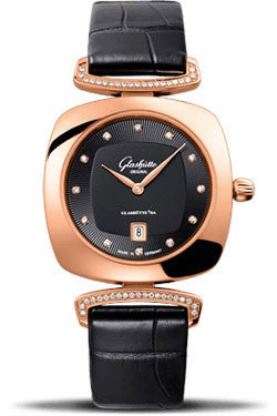 Glashutte Original,Glashutte Original - Ladies Collection - Pavonina Red Gold - Black - Watch Brands Direct