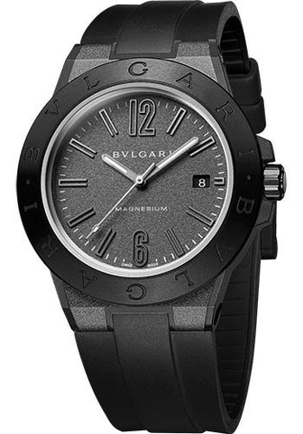 Bulgari,Bulgari - Diagono 41mm - Magnesium Chronograph - Black Ceramic - Watch Brands Direct