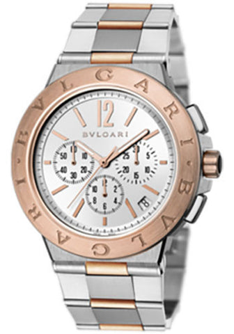 Bulgari - Diagono Velocissimo - Stainless Steel and Pink Gold - Watch Brands Direct