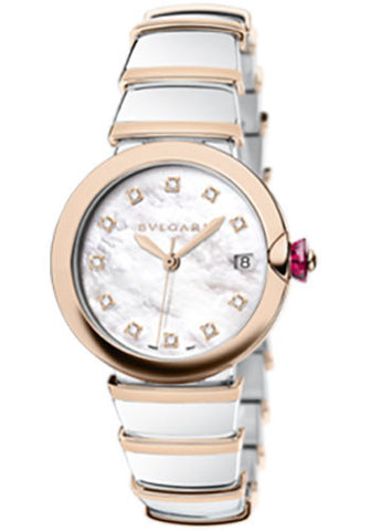 Bulgari - Lucea 36mm - Stainless Steel and Pink Gold - Watch Brands Direct  - 1