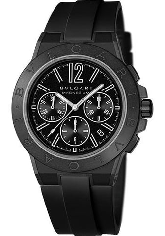 Bulgari,Bulgari - Diagono 42mm - Magnesium Chronograph - Black Ceramic - Watch Brands Direct