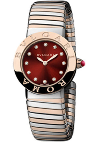 Bulgari - BVLGARI 26mm - Stainless Steel and Pink Gold - Tobogas Bracelet - Watch Brands Direct  - 1