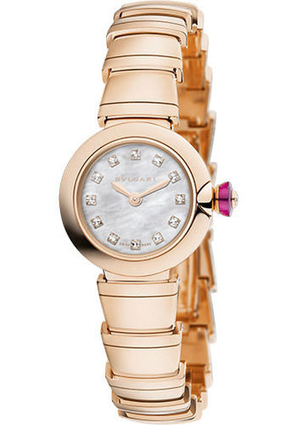 Bulgari - Piccola Lucea - 23mm - Pink Gold - Watch Brands Direct