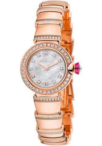 Bulgari - Piccola Lucea - 23mm - Pink Gold and Diamonds - Watch Brands Direct