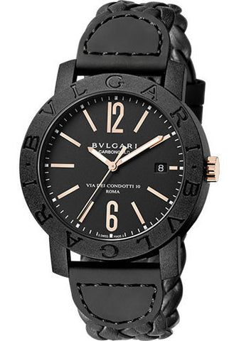 Bulgari,Bulgari - BVLGARI 40 mm - Carbon Fiber and Pink Gold - Watch Brands Direct