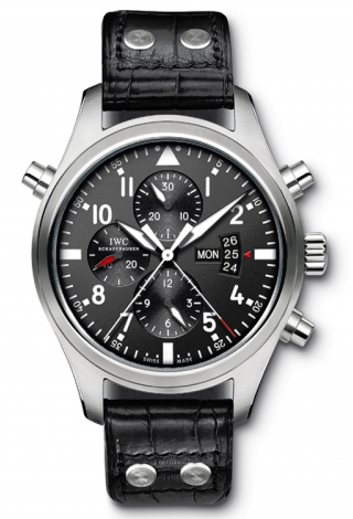 IWC,IWC - Pilots Watch Double Chronograph - Watch Brands Direct