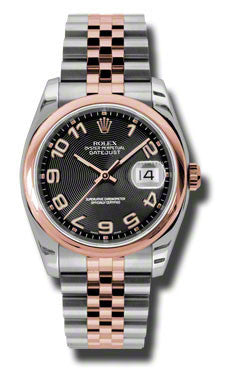 Rolex,Rolex - Datejust 36mm - Steel and Pink Gold - Domed Bezel - Watch Brands Direct