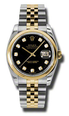 Rolex - Datejust 36mm - Steel and Yellow Gold - Domed Bezel - Watch Brands Direct  - 1