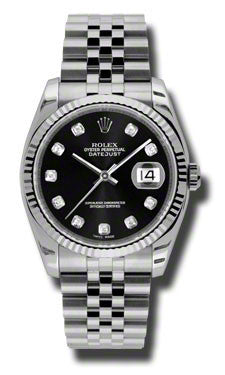 Rolex,Rolex - Datejust 36mm - Steel Fluted Bezel - Watch Brands Direct