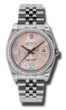 Rolex,Rolex - Datejust 36mm - Steel and White Gold Diamond Bezel - Watch Brands Direct