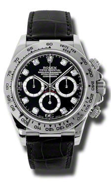 Rolex - Daytona White Gold - Leather Strap - Watch Brands Direct  - 1