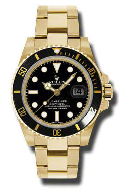 Rolex - Submariner Yellow Gold (116618) - Watch Brands Direct  - 1