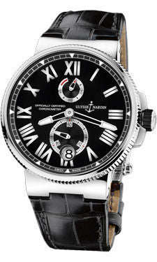 Ulysse Nardin,Ulysse Nardin - Marine Chronometer Manufacture 45mm - Stainless Steel - Watch Brands Direct