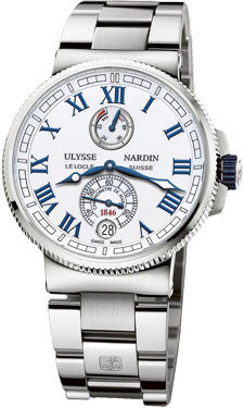 Ulysse Nardin,Ulysse Nardin - Marine Chronometer Manufacture 43mm - Stainless Steel and Titanium - Watch Brands Direct