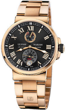 Ulysse Nardin,Ulysse Nardin - Marine Chronometer Manufacture 43mm - Rose Gold - Watch Brands Direct