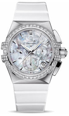 Omega,Omega - Ladies Constellation Double Eagle Co-Axial Chrono Stainless Steel - Watch Brands Direct