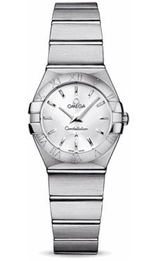 Omega,Omega - Constellation Quartz 24 mm - Brushed Stainless Steel - Watch Brands Direct